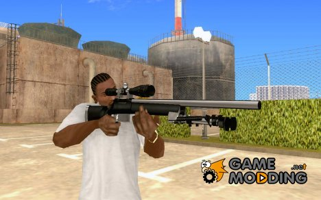 White Chrome Sniper Rifle для GTA San Andreas