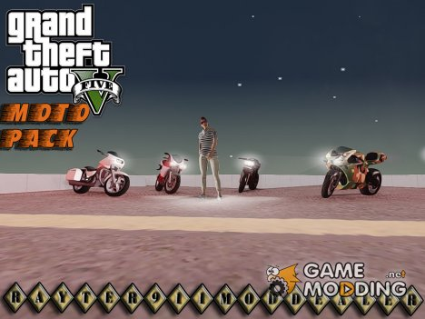 Moto pack from Grand Theft Auto V (v.1.0) для GTA San Andreas