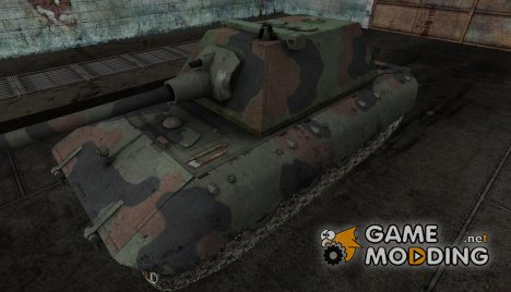 Шкурка для E-100 Wooden Camo for World of Tanks