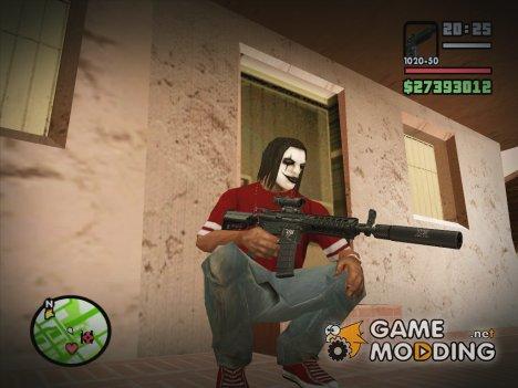 Новая M4 black для GTA San Andreas