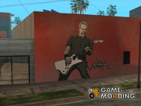 James Hetfield Metallica Art Wall для GTA San Andreas