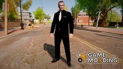 Черно-белый костюм for GTA 4