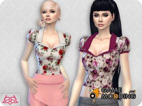 Matilde blouse RECOLOR 1 для Sims 4