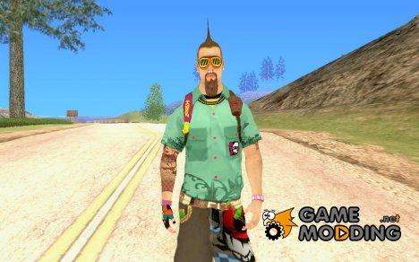 Скин на замену Fam1 for GTA San Andreas