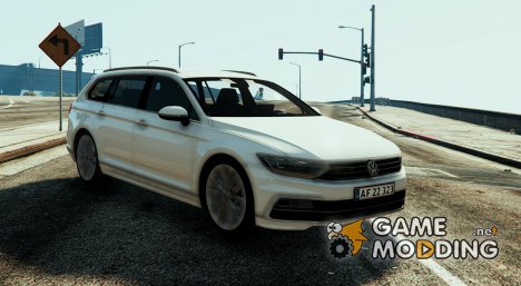 Danish 2015 Volkswagen Passat R-Line - Unmarked Version for GTA 5