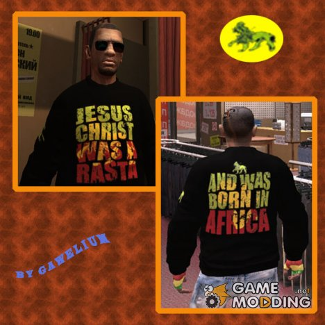 "Свитер ""Jesus Was a Rasta"" for GTA 4"