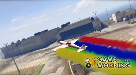Stunt Plane Smoke (4x Rainbow Colors) для GTA 5