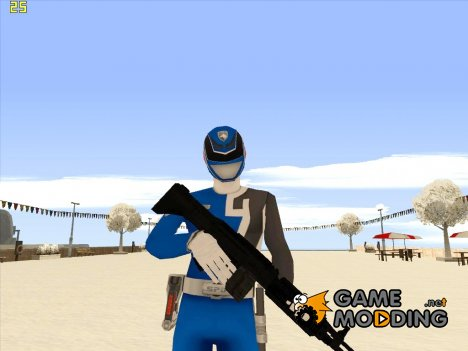 Power Ranger RPM Blue for GTA San Andreas