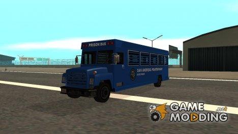 Полицейский автобус для заключённых в стиле SA for GTA San Andreas
