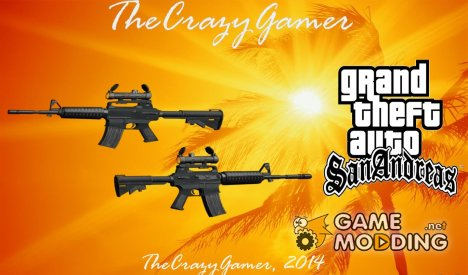 Hitman 2 M4 для GTA San Andreas