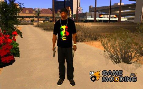Футболка с Бобом Марли for GTA San Andreas