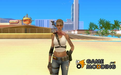 Новая военная девушка for GTA San Andreas