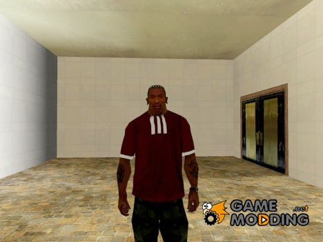Adidas T-shirt red for GTA San Andreas
