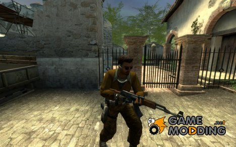 1337 Camo pants Brown Jacket for Counter-Strike Source