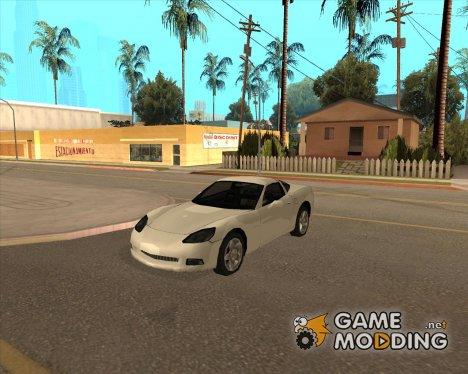 Chevrolet Corvette C6 в стиле SA for GTA San Andreas