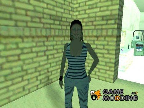 Девушка в тельняшке для GTA San Andreas