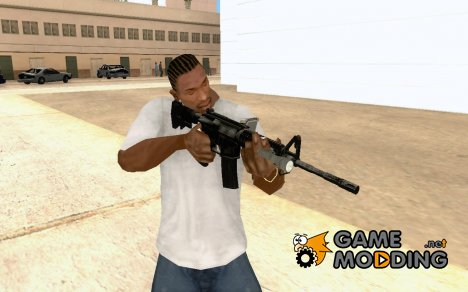 M4A1 Carbine with Flashlight and HB Sensor для GTA San Andreas