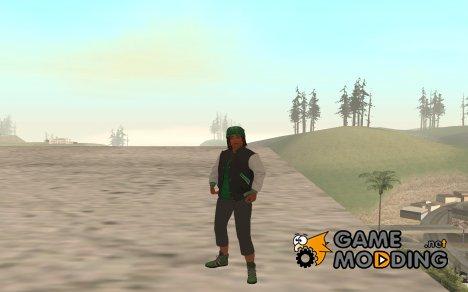 Девушка Grove Street для GTA San Andreas