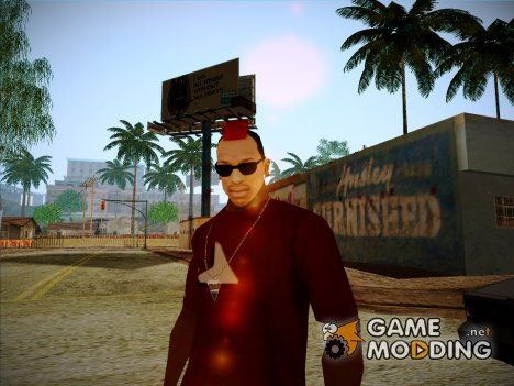 Red Mohawk and Black Stubbles for GTA San Andreas