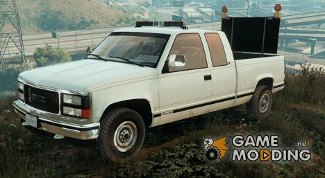 GMC Sierra 1992 (Construction Pickup with flashing orange lights) for GTA 5