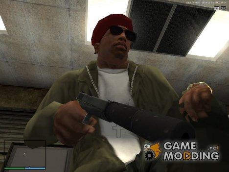 Пистолет с глушителем из GTA 4 для GTA San Andreas