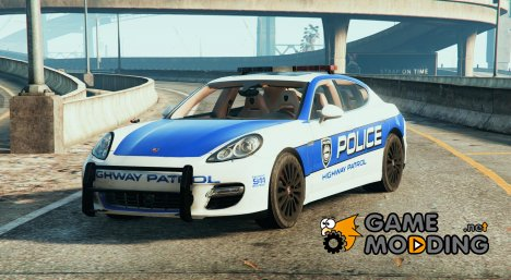 Porsche Panamera Turbo - Need for Speed Hot Pursuit Police Car для GTA 5