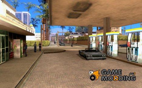 Оживлённая заправка в Лос Сантос V 1.0 for GTA San Andreas