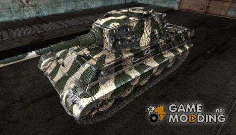 Шкурка для PzKpfw VIB Tiger II зеленый for World of Tanks