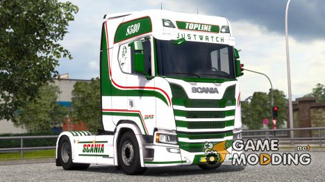 Justwatch для Scania S580 for Euro Truck Simulator 2