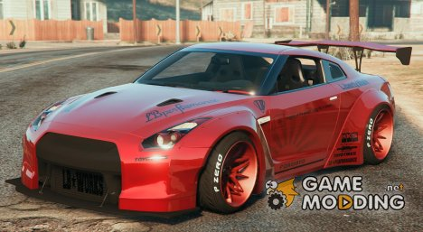 Nissan GT-R R35 LibertyWalk v1.1 for GTA 5