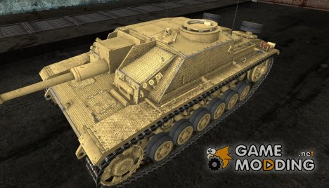 Шкурка для StuG III Desert camo for World of Tanks