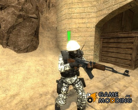 Snow Camo Sas для Counter-Strike Source
