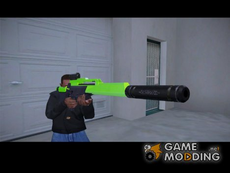 Sniper Rifle chrome green для GTA San Andreas