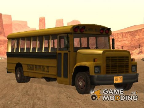 School Bus from Driver Parallel Lines (Damaged Version) для GTA San Andreas