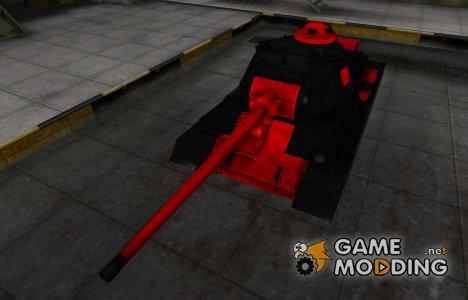 Черно-красные зоны пробития Т-43 для World of Tanks