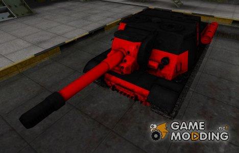 Черно-красные зоны пробития ИСУ-152 для World of Tanks