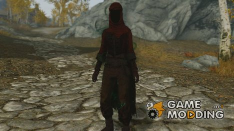 Elite Hassassins Vestments - Dark Redguard Assassin Armor with custom enchants and Faceless hood for TES V Skyrim