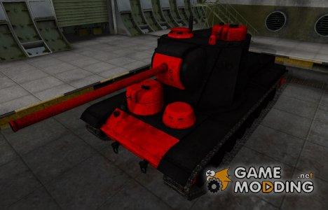 Черно-красные зоны пробития КВ-5 для World of Tanks