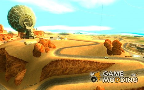 Трасса для дрифта Большое ухо v1 для GTA San Andreas