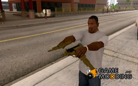 Gold uzi from TBOGT for GTA San Andreas