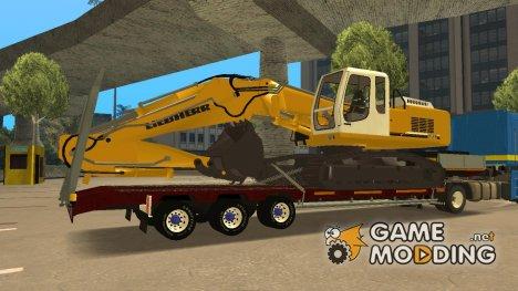 Прицеп с Эксковатором для GTA San Andreas