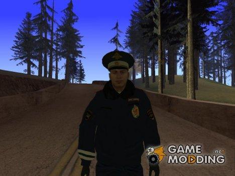Сотрудник ДПС в зимней униформе v.4 для GTA San Andreas