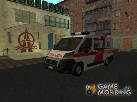 Fiat Ducato Lithuanian Ambulance для GTA San Andreas
