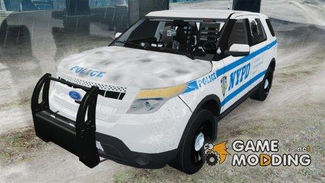 Ford Explorer NYPD ESU 2013 for GTA 4