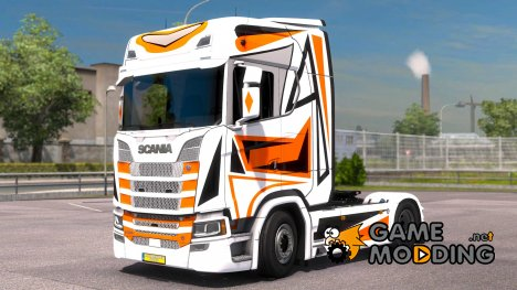 Orange Black для Scania S580 for Euro Truck Simulator 2