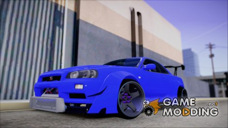 Nissan GT-R34 Battle Machine для GTA San Andreas