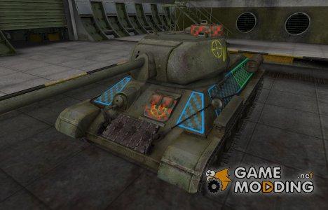 Качественные зоны пробития для Т-34-85 для World of Tanks