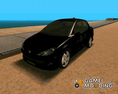 Peugeot 206 Coupe Police для GTA San Andreas