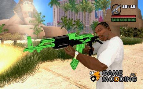 Зеленая замена AK-47 for GTA San Andreas