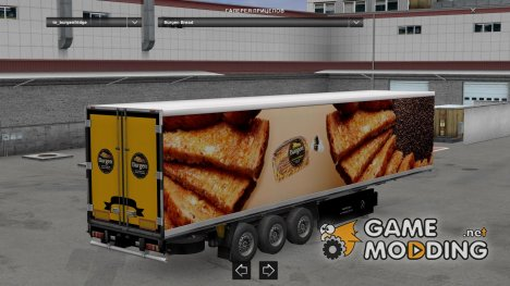 Burgen Bread Trailer for Euro Truck Simulator 2